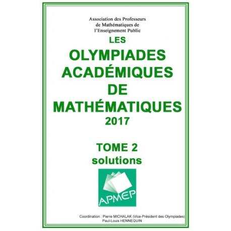 Olympiades de mathématiques 2016 - Solutions