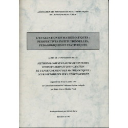 L'évaluation en maths (université d'été 1995)