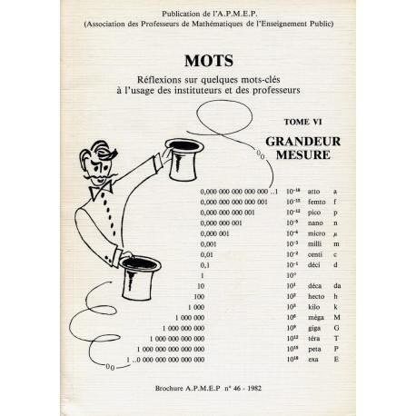 GRANDEURS - MESURES