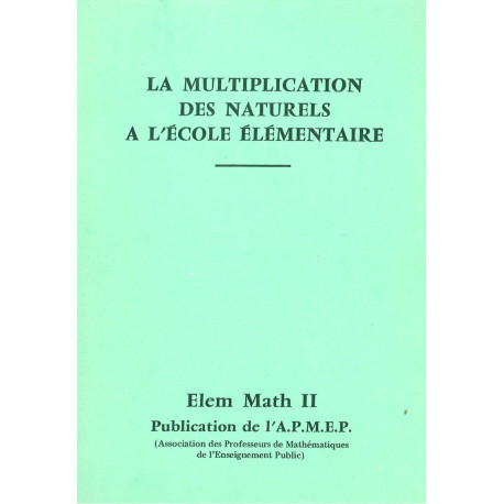 Elem-maths 2 - La multiplication *