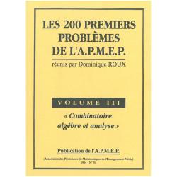 200 premiers problèmes de l'apmep - analyse