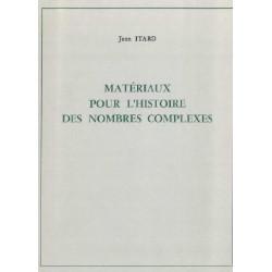 Matériaux pour l'histoire des nombres complexes