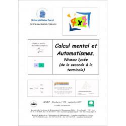 Calcul mental et automatismes : niveau Lycées de la seconde à la Terminale