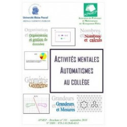 ACTIVITÉS MENTALES – AUTOMATISMES AU COLLÈGE