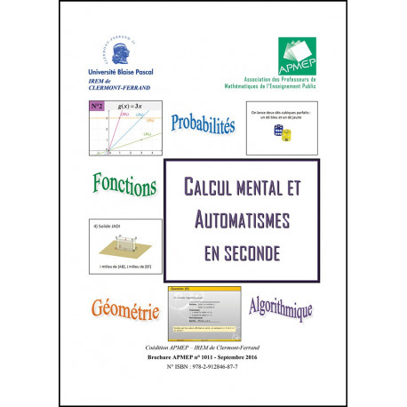 Calcul mental et automatismes en seconde