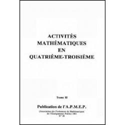 Activités mathématiques au collège, Tome 2