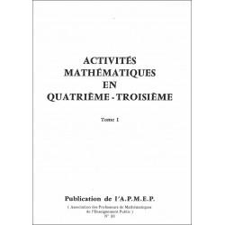 Activités mathématiques en quatrième-troisième